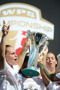 Player-coach Christie Rampone was the third coach for the SKy Blue FC in the first season of the WPS.