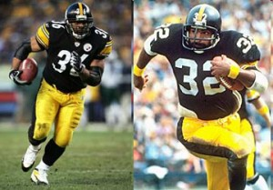 The Steelers uniform made little changes between the years when Franco Harris won his Super Bowl titles and when Jerome Bettis led Pittsburgh back to the top.
