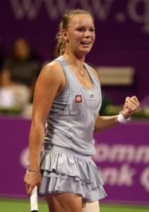 Caroline Wozniacki reached the semifinals at Doha and Osaka.