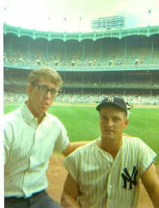 Andy Strasberg in 1966 with Roger Maris at The Stadium