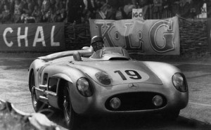 Five-time F1 Champion Juan Manuel Fangio was able to narrowly avoid disaster during the horrible accident at the 1955 24 Hours of Le Mans.