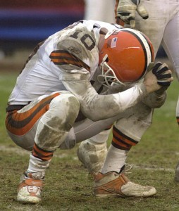 Kelly Holcomb and The Browns couldn't hold in the 2003 playoffs. My buddy gloated and I was devastated.