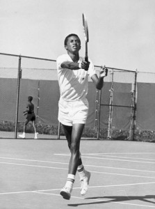 Ashe grew up playing tennis in his hometown of Richmond, Virginia.