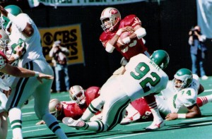 Reggie White and the Eagles defense made sure that All-Pro Roger Craig was not a factor in the game. Craig gained only 14 yards rushing and 20 yards receiving.