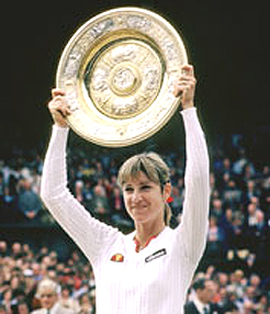 Evert never lost in the first or second round of a major championship and claimed 18 Grand Slam singles titles.