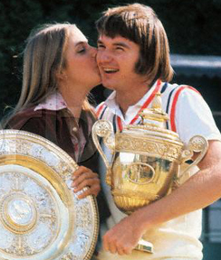 Evert was briefly engaged to tennis bad boy Jimmy Connors.