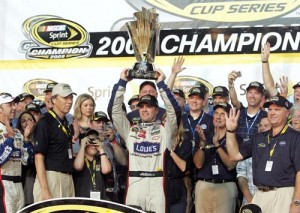 Jimmie Johnson has claimed four straight NASCAR Sprint Cup titles.
