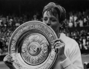 Margaret Court defeated Billie Jean King 14-12, 11-9 to win the 1970 Wimbledon title.