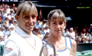 Martina Navratilova and Chris Evert were both known for their competitive fire.