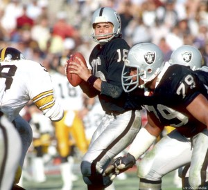 Jim Plunkett was 13-2 as the starting quarterback for the Raiders in 1980. He tossed three touchdowns in the win over the Steelers.