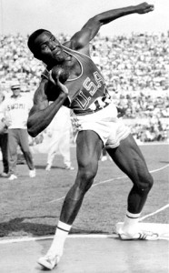 Johnson dominated the shot and discus in the 1960 Olympic decathlon, but struggled in the hurdles.