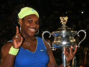 Sererna Williams began 2009 by winning her fourth Australian Open title.