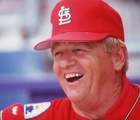 Whitey Herzog led the St. Louis Cardinals to the 1982 World Series title and won three pennants with the Cardinals.