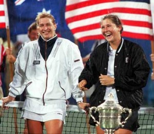 Graf and Monica Seles seemed headed for a legendary rivalry before Seles' tragic stabbing.