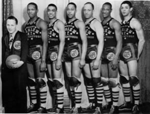 "The Harlem Globetrotters began in Chicago as the ""Savoy Big Five."""