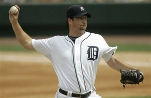 Grilli in 2008 photo while pitching for the Detroit Tigers