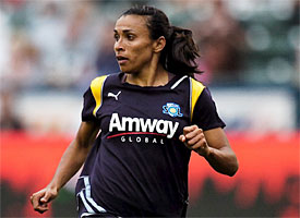 Marta starred for the Los Angeles Sol in the first year of WPS play.