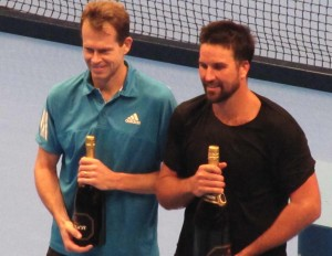 Stefan Edberg and Patrick Rafter brought back old memories with their meeting in London.