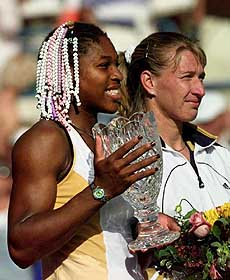 Serena Williams defeated Graf in the 1999 Indian Wells final.