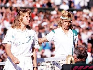 Graf and Martina Navratilova had some classic battles during Grand Slam tournaments.