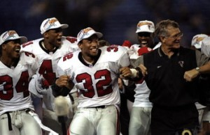 Dan Reeves and the 1998 Atlanta Falcons flapped their way to an improbable victory over the Minnesota Vikings in the NFC Championship Game.