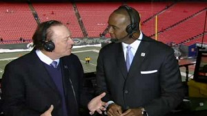 Charles Davis (right) has worked his way up to become one of the top football commentators in the business.