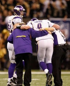 Favre was beaten and battered by the Saints.