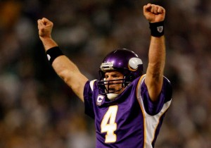 Fans of the Minnesota Vikings hope that Brett Favre can take the team where Joe Kapp and Fran Tareknton could not.