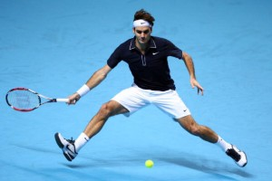 Roger Federer is back in action after a brief break in December.