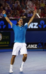 Even as he continues to increase his record number of grand slam singles titles, Federer, continues to play with passion and determination.