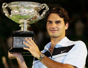 Roger Federer is a three-time Australian Open champion.