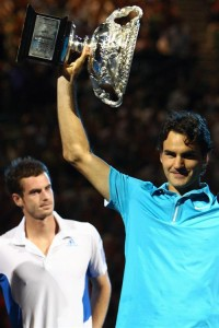 Murray could do little but watch as Federer hoisted his 16th Grand Slam trophy.