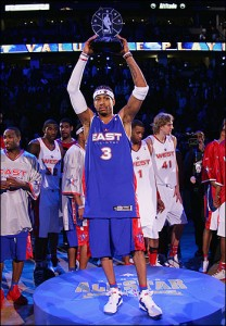 Iverson has twice been named the All-Star Game MVP.
