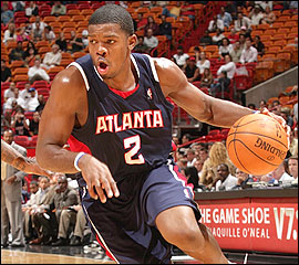 Despite flying under the NBA radar, Joe Johnson and the Atlanta Hawks are challenging the top teams in the Eastern Conference.