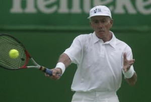Ken Rosewall is still active as a tennis legend.