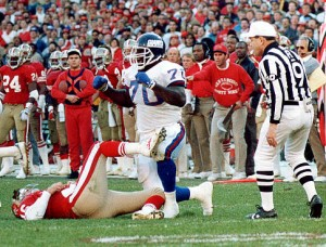 Leonard Marshall's hit on Joe Montana propelled the Giants to Super Bowl XXV and basically ended Montana's career with the 49ers.