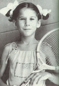 Seles was a tennis phenom from an early age.
