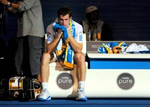 Andy Murray struggled in his second Grand Slam final against Roger Federer.