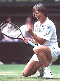 Martina Navratilova dominated women's tennis for more than a decade.