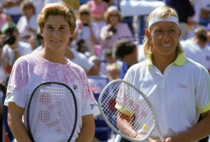 Seles defeated Martina Navratilova to win the 1991 U.S. Open.