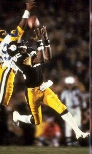 A late 74-yard touchdown from Terry Bradshaw to John Stallworth helped lift the Steelers over the Rams.