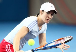 Henin began her comeback season at Brisbane.