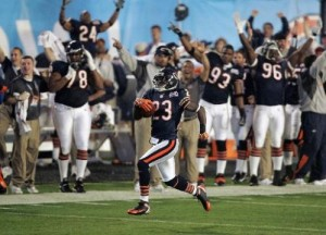 Devin Hester started Super Bowl XLI by returning the opening kickoff for a score, but the Bears were unable to build on the momentum.
