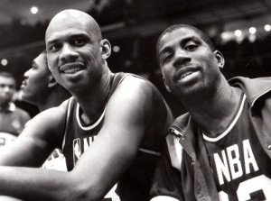 Bpoth Kareem Abdul-Jabbar and Magic Johnson made All-Star appearances late in their career.