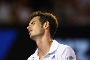 Murray was frustrated throughout the match with Federer.