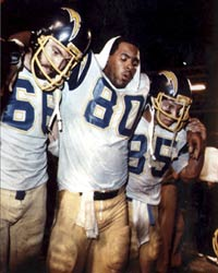 Kellen Winslow caught 13 passes and blocked a potential game winning field goal.