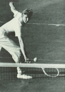 Don Budge was renowned for his grace and fluidity, and in particular for his famous backhand.