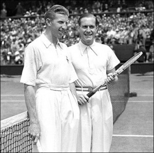 Budge and von Cramm, who played one of the finest Davis Cup matches in 1937, became great friends.