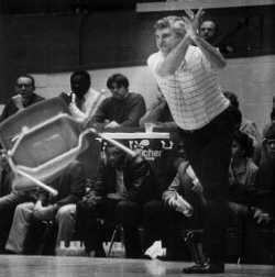 Bobby Knight's chair throwing incident foreshadowed other outbursts to come.