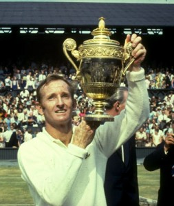 Laver won Wimbledon four times and claimed the season Grand Slam twice.